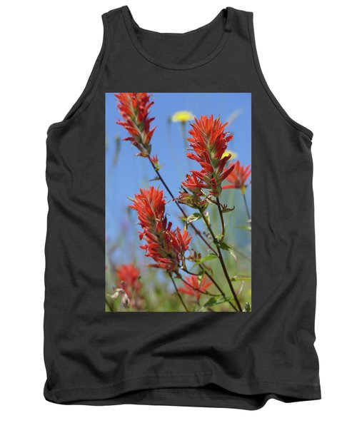 Scarlet Indian Paintbrush At Mount St. Helens National Volcanic  Tank Top