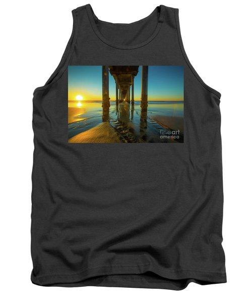 Scripps Pier San Diego Sunset 2 Tank Top