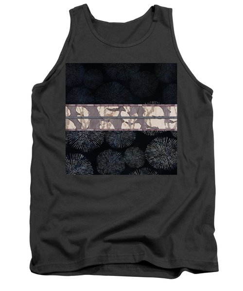 Sea Urchin Contrast Obi Print Tank Top