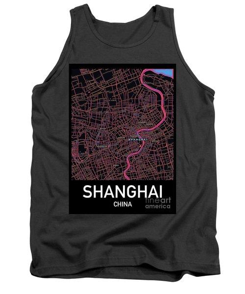 Shanghai City Map Tank Top