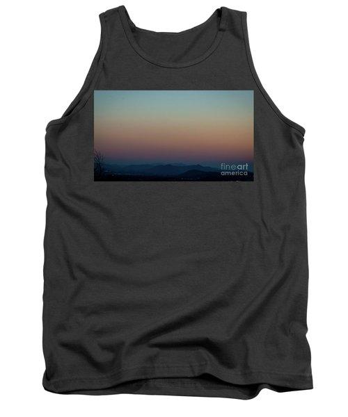 Sherbert Sunset Over The Blue Ridge Mountains Tank Top