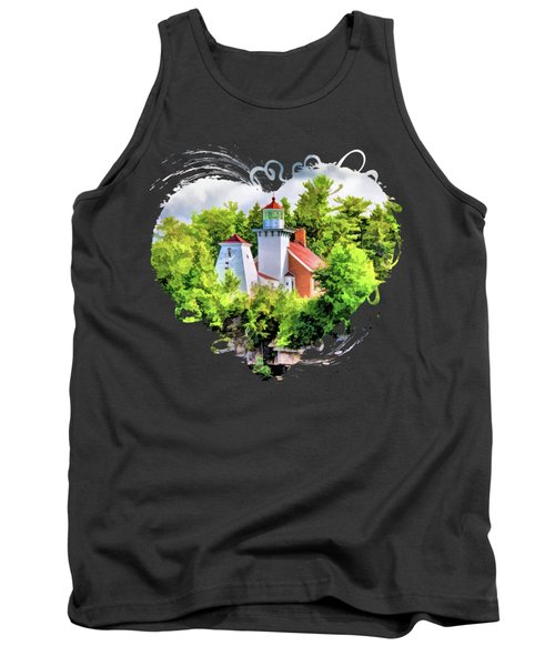 Sherwood Point Lighthouse In Door County Tank Top