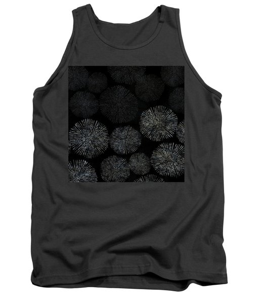 Shibori Sea Urchin Burst Pattern Tank Top