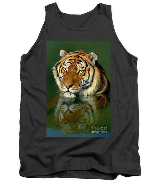 Siberian Tiger Reflection Wildlife Rescue Tank Top