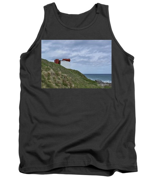 Side View Of The Foghorn At Torrey Point In Aberdeenshire. Tank Top