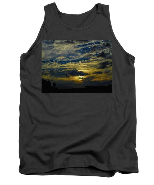 Silver, Blue And Gold Tank Top