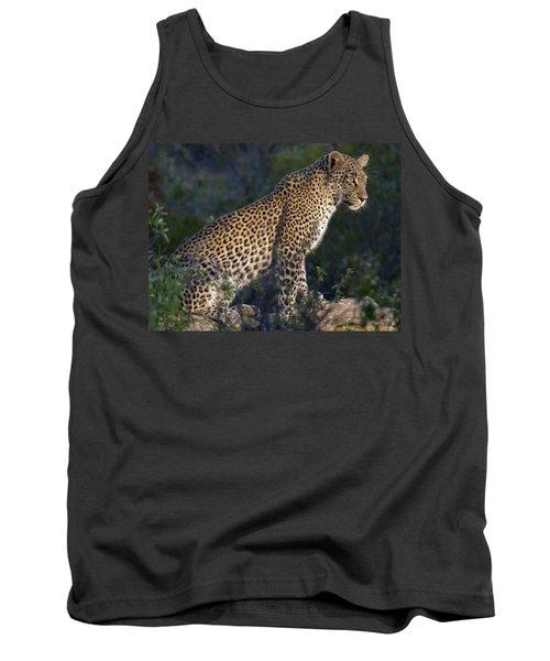 Sitting Leopard Tank Top