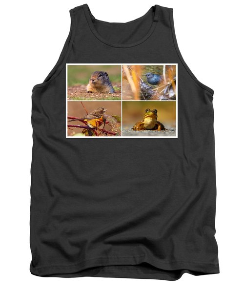 Small Animal Collage Tank Top