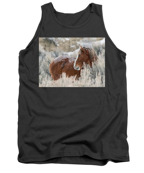 Snow Dusted Mustang Stallion Tank Top