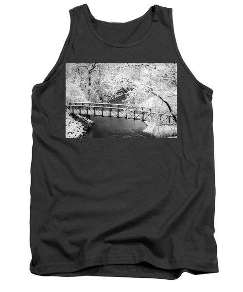 Snowy Bridge On Mill Creek Tank Top
