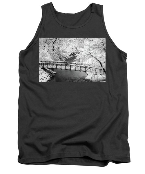 Snowy Bridge On Mill Creek Tank Top
