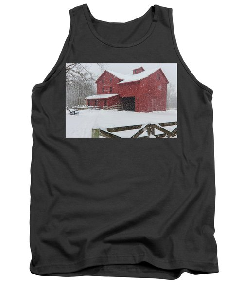 Snowy Day At Bonneyville Mill Tank Top