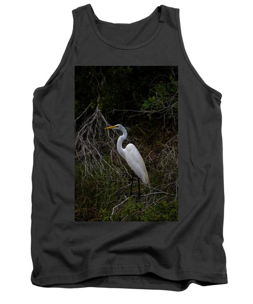 Great Egret On A Hot Summer Day Tank Top