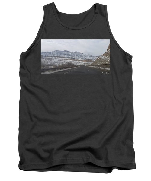 Snowy Mountain Road Tank Top