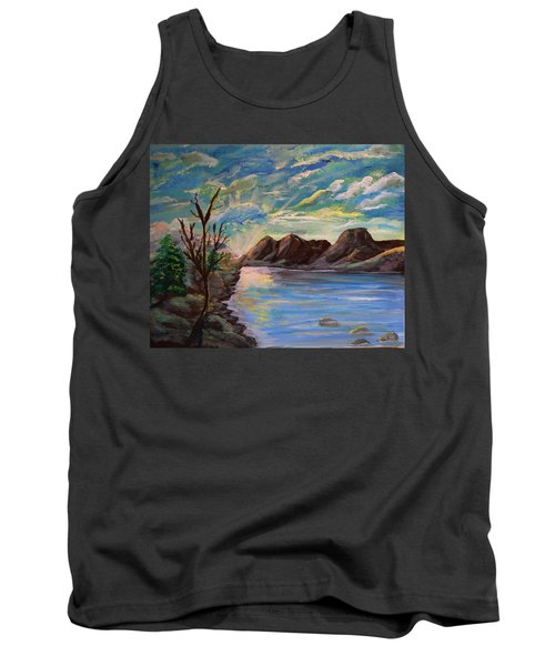 Snowy Range And Lookout Lake Tank Top