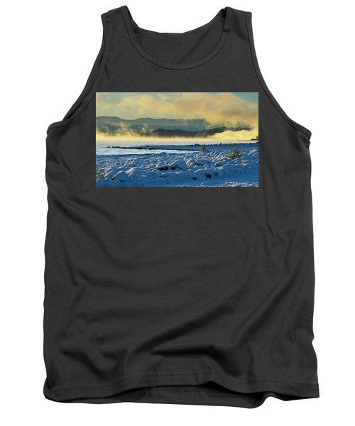 Snowy Shoreline Sunrise Tank Top