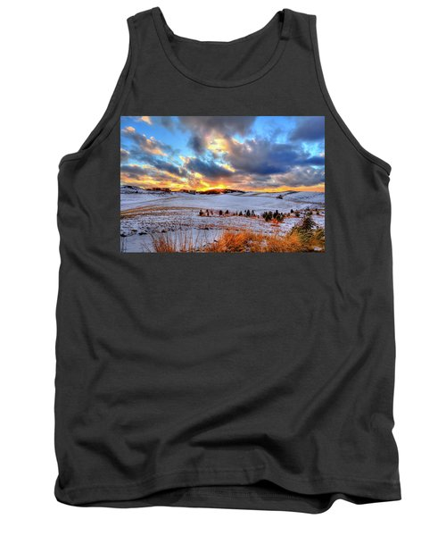 Tank Top featuring the photograph Snowy Sunset by David Patterson