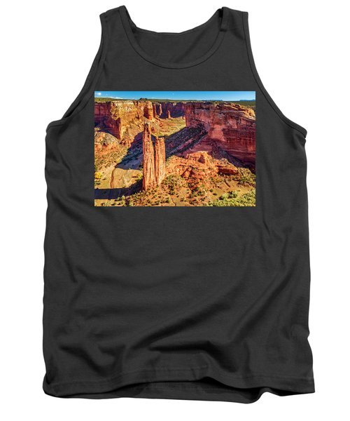 Tank Top featuring the photograph Spider Rock by Andy Crawford