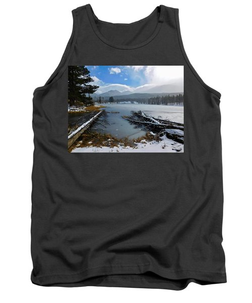 Tank Top featuring the photograph Sprague Lake by Dan Miller