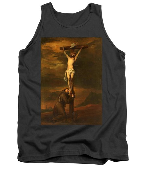 St Francis At The Foot Of The Cross Tank Top