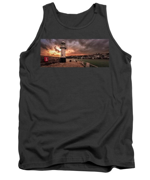 St Ives Cornwall - Lighthouse Sunset Tank Top