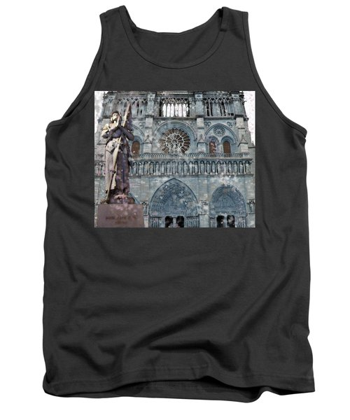 St Joan Of Arc Watch Over Notre Dame Tank Top
