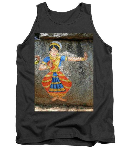 Stone Painting Of Nautch Dancing Gir Tank Top