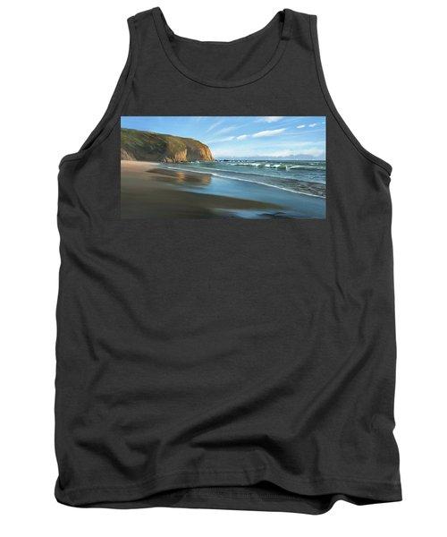 Strands Beach Dana Point Oil Painting Tank Top