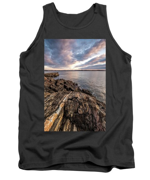 Striations. Leading Lines In The Rocks Tank Top