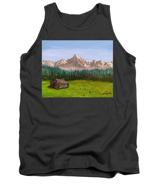 Tank Top featuring the painting Stump by Kevin Daly