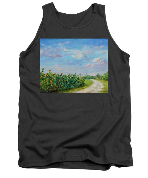 Sunflower Field Ptg Tank Top