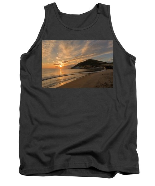 Sunrise On The Beach Of The Genoveses Of Cabo De Gata Tank Top