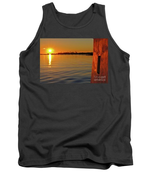 Sunset And Old Watermill Tank Top