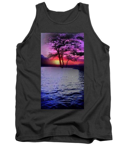 Sunset By Lake. Tank Top