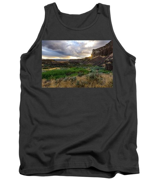 Sunset In The Ancient Lakes Tank Top