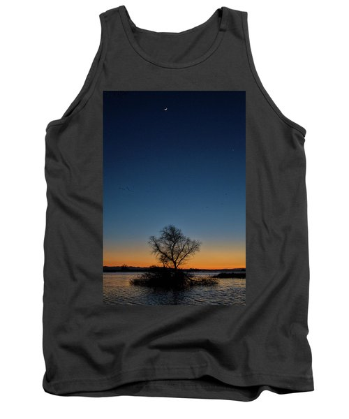 Sunset In The Refuge With Moon Tank Top