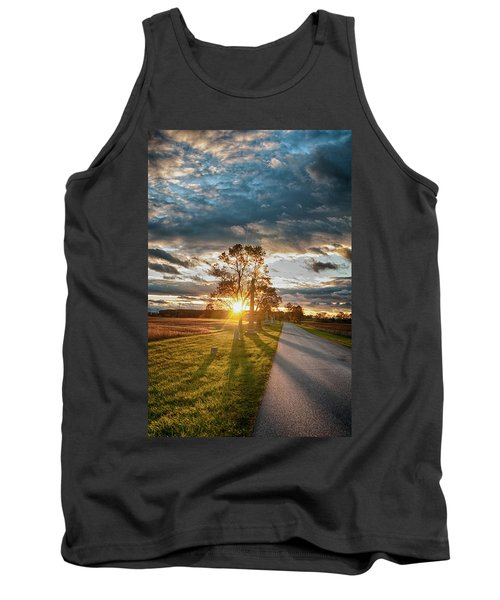 Sunset In The Tree Tank Top