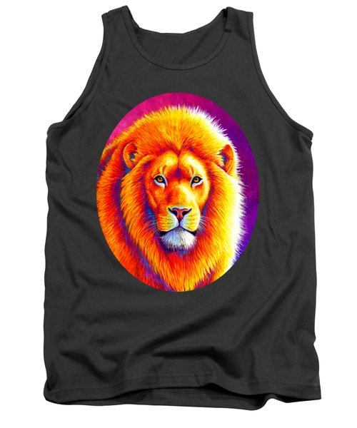 Sunset On The Savanna - African Lion Tank Top