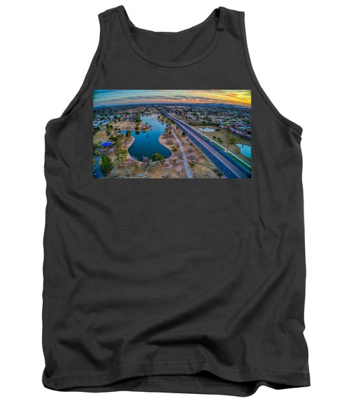 Sunset Over Chaparral  Tank Top