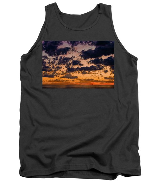 Sunset Over The Indian Ocean Tank Top