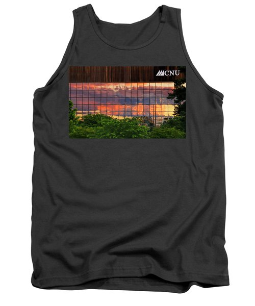Sunset Reflections On A Wall Of Glass Tank Top
