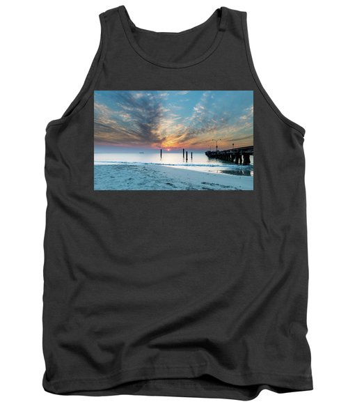 Sunset Seascape And Beautiful Clouds Tank Top