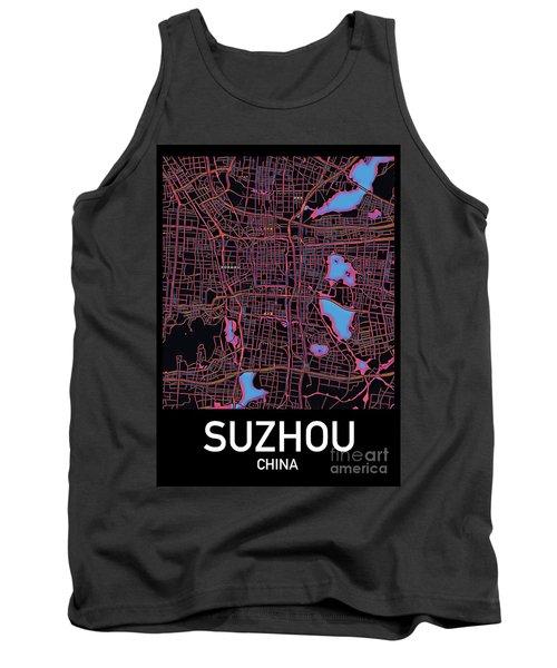 Suzhou City Map Tank Top