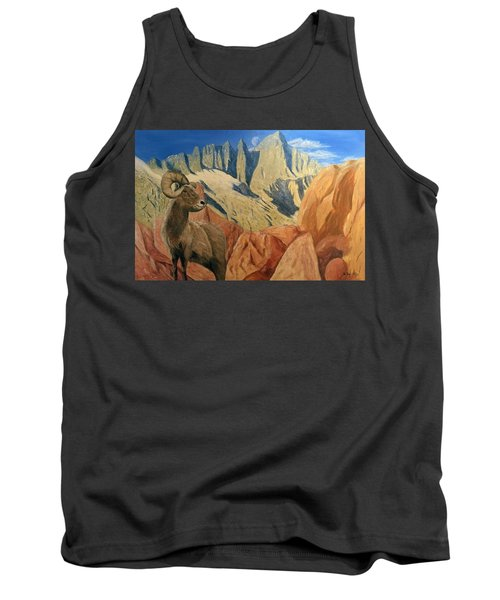 Tank Top featuring the painting Taking In The Morning by Kevin Daly