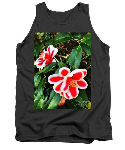 Tank Top featuring the photograph Tama Peacock Twins by Rick Locke