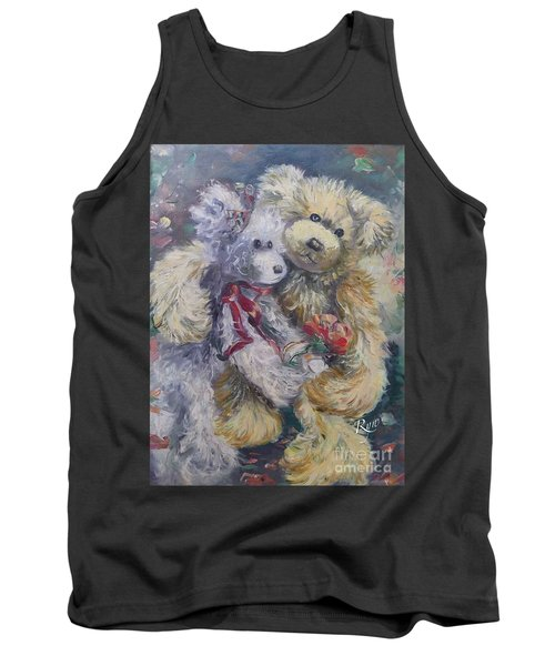 Tank Top featuring the painting Teddy Bear Honeymooon by Ryn Shell