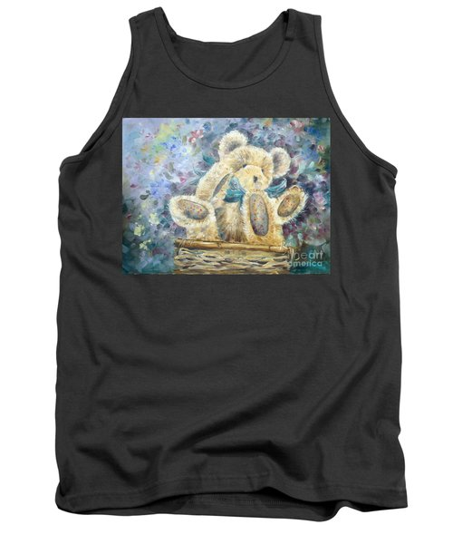 Tank Top featuring the painting Teddy Bear In Basket by Ryn Shell