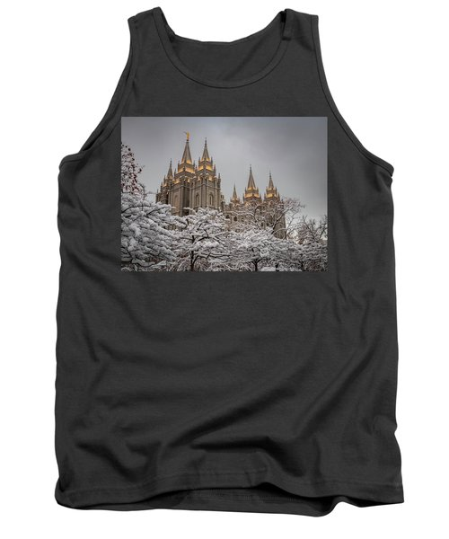 Temple In The Snow Tank Top