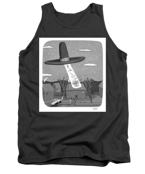 Thanksgiving Aliens Tank Top