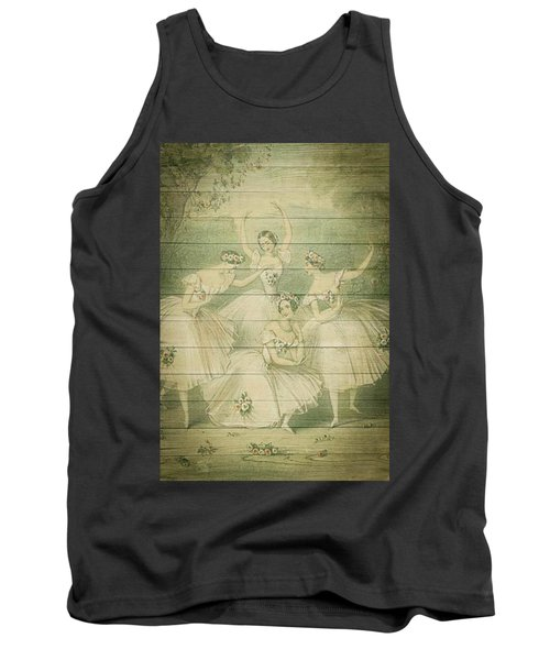 The Ballet Dancers Shabby Chic Vintage Style Portrait Tank Top